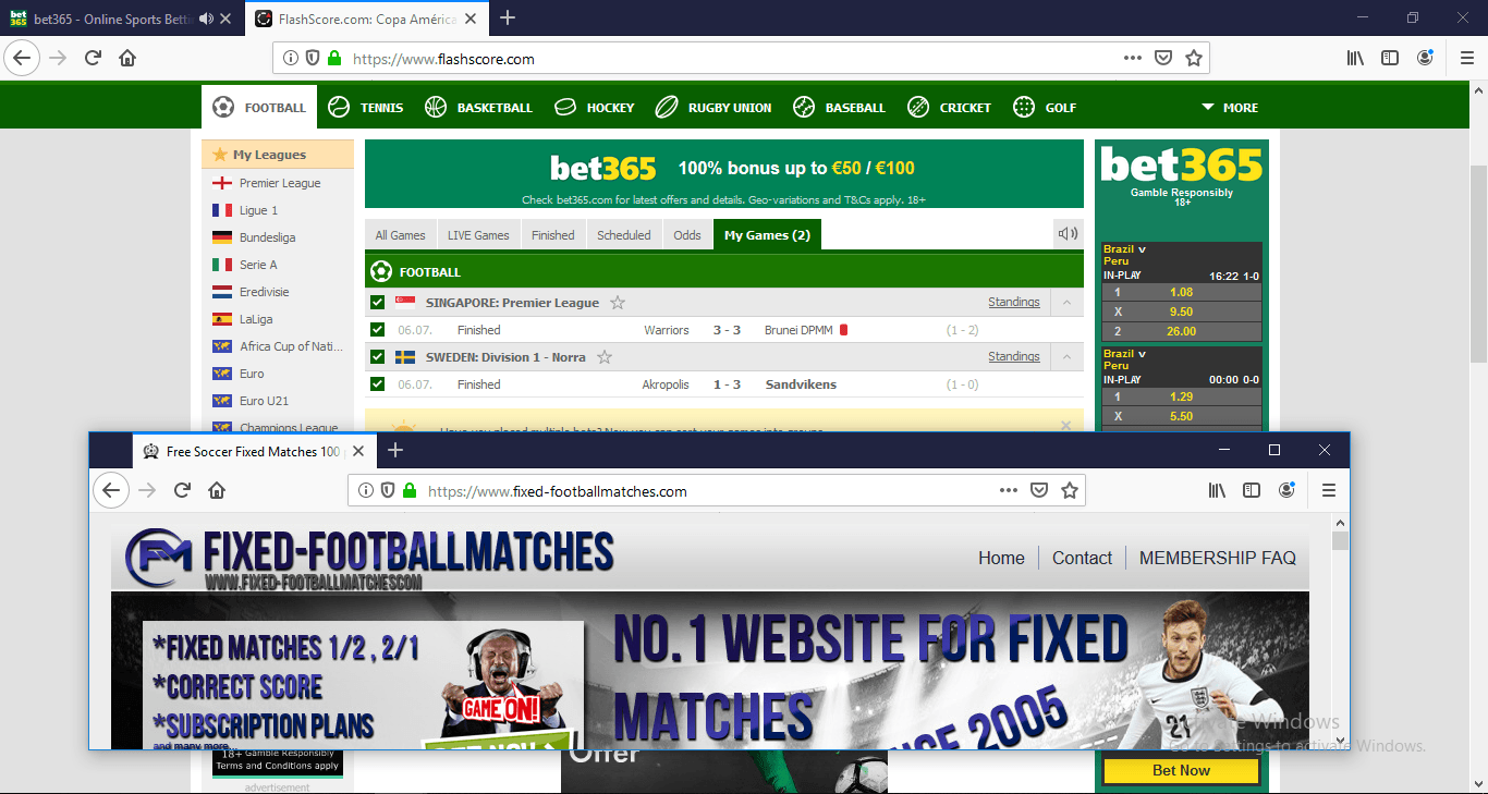 Free Soccer Fixed Matches 100 percent sure prediction