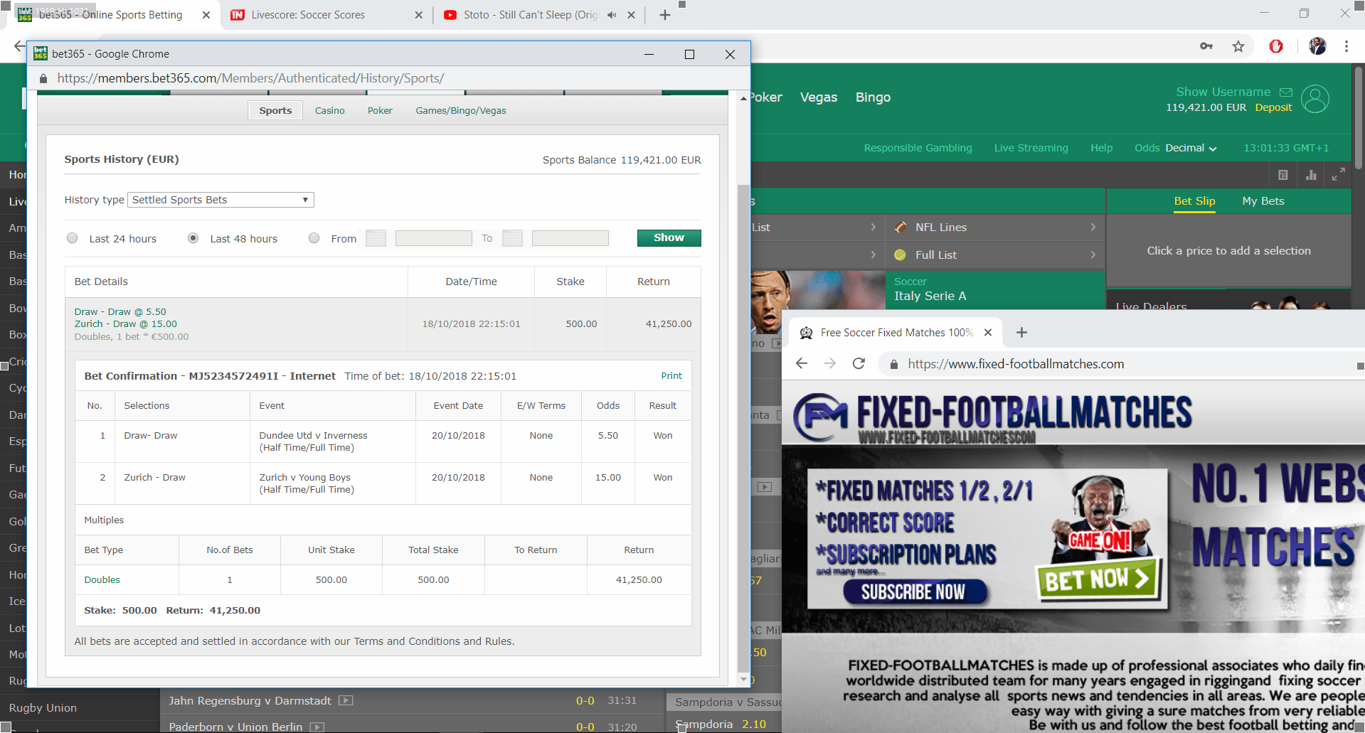 Sure win fixed matches, today best fixed matches, site with